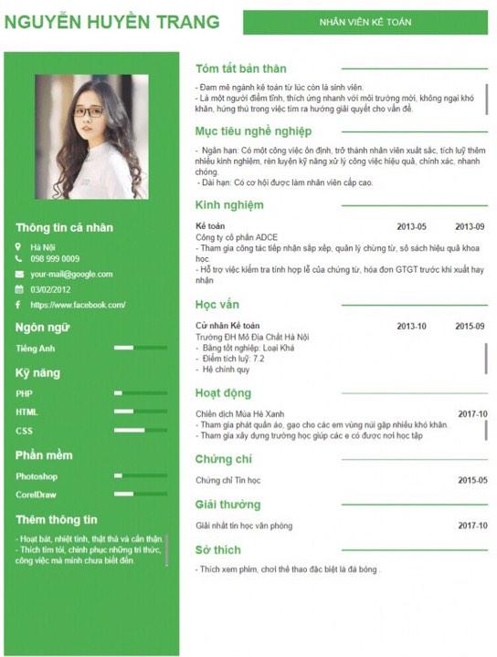 mục tiêu nghề nghiệp trong CV
