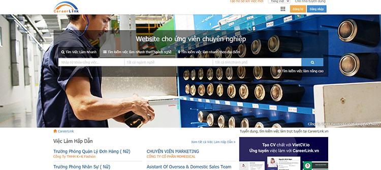 Trang web đăng tin tuyển dụng Careerlink