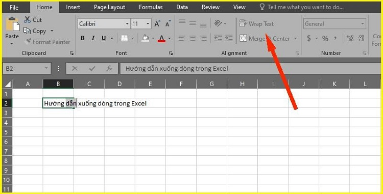 xuống dong Excel
