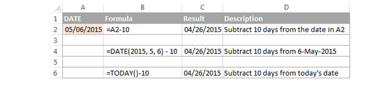 Trừ ngày từ ngày bằng hàm đếm ngày trong Excel cơ bản